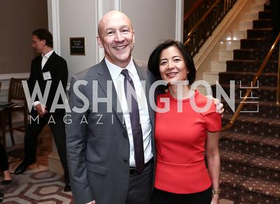 MasterCard Foundation's Jason Reindorp and Dr. Reeta Roy. Photo by Tony Powell. 2015 World Affairs Council Gala. Ritz Carlton. June 9, 2015