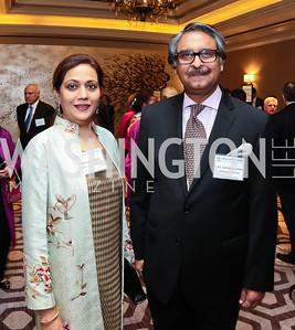 Shaista Jilani and Pakistan Amb. Jalil Abbas Jilani. Photo by Tony Powell. 2015 World Affairs Council Gala. Ritz Carlton. June 9, 2015