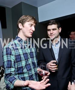 Zach Carter, Ryan Reilly. Photo by Tony Powell. YGL Cocktail Party. W Hotel. February 18, 2015