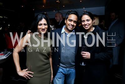Sujata Mitra, Manu Raju and Archana Mehta. Photo by Tony Powell. YGL Cocktail Party. W Hotel. February 18, 2015