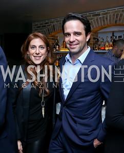 Jayne Sandman, Jake Cusack. Photo by Tony Powell. YGL Cocktail Party. W Hotel. February 18, 2015
