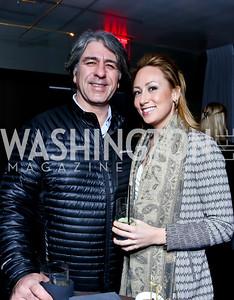 Soroush Richard Shehabi, Lauren Burke. Photo by Tony Powell. YGL Cocktail Party. W Hotel. February 18, 2015