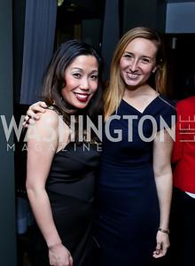 Elizabeth Heng, Sari Bourne. Photo by Tony Powell. YGL Cocktail Party. W Hotel. February 18, 2015