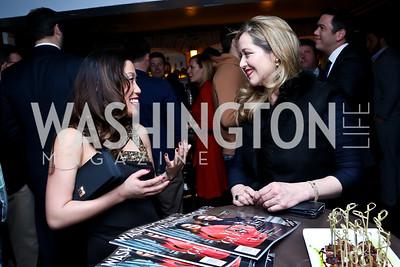 Elizabeth Heng, Nancy Reynolds Bagley. Photo by Tony Powell. YGL Cocktail Party. W Hotel. February 18, 2015