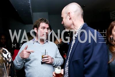 Sean Bradshaw, Rob Danegger. Photo by Tony Powell. YGL Cocktail Party. W Hotel. February 18, 2015