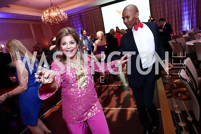 Annie Totah, Aaron Jackson. Photo by Tony Powell. 2015 YOA Pan American Gala. Four Seasons Hotel. April 30, 2015