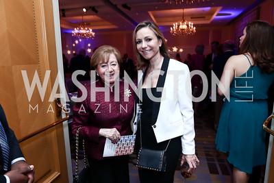 Irma Frank and Pilar O'Leary. Photo by Tony Powell. 2015 YOA Pan American Gala. Four Seasons Hotel. April 30, 2015