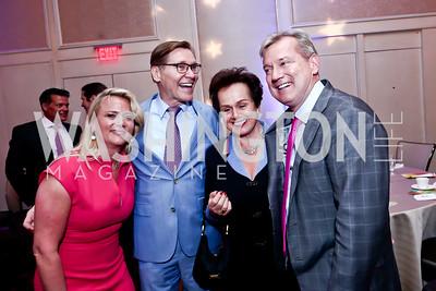Lyn McFadden, Michael Olding, Claudia Fritsche, Mark McFadden. Photo by Tony Powell. 2015 YOA Pan American Gala. Four Seasons Hotel. April 30, 2015