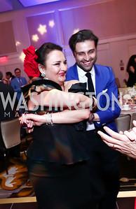 Rhoda Septilici, Renaud De Viel Castel. Photo by Tony Powell. 2015 YOA Pan American Gala. Four Seasons Hotel. April 30, 2015