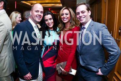 Sean Randall, Jaclyn Mason, Erika Paola Gutierrez, Alex LaPere. Photo by Tony Powell. 2015 YOA Pan American Gala. Four Seasons Hotel. April 30, 2015