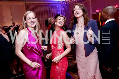 Clara Chopivsky, Sandra Barros, Hallie Sherrard. Photo by Tony Powell. 2015 YOA Pan American Gala. Four Seasons Hotel. April 30, 2015