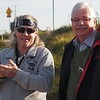 Willie Nelson (aka Ian Bradshaw) and Gerry Engwerda at Wodonga McDonald's