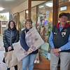Rain, hail, shine ... and shopping ... Anne Marie Quinn, Loz Thomas and Tyrone Dark