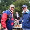 Former President Murray Finlay (left) and original Chapter Captain Ron Gillick cut the cake, Lockhart Gap