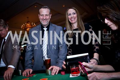 Raul Aguilar, Justene Aguilar. Photo by Tony Powell. 2nd Annual BGCGW Casino Night. Ritz Carlton. March 6, 2015