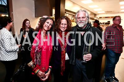 Micheline Klagsbrun, Julia Cohen, Ken Grossinger. Photo by Tony Powell. 2nd Annual Chef's Roast. Union Market. October 26, 2015