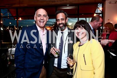 Josh Wachs, Greg Silverman, Amy Dacey. Photo by Tony Powell. 2nd Annual Chef's Roast. Union Market. October 26, 2015