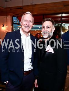Doug Hattaway, Marshall Stowell. Photo by Tony Powell. 2nd Annual Chef's Roast. Union Market. October 26, 2015