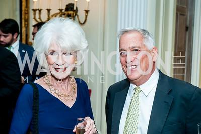 Diane Rehm, Walter Isaacson. Photo by Tony Powell. Residence of France. October 13, 2015