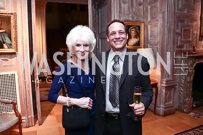 Diane Rehm, WAMU CEO JJ Yore. Photo by Tony Powell. Residence of France. October 13, 2015