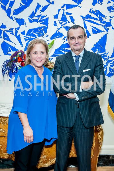 Sen. Mary Landrieu, France Amb. Gerard Araud. Photo by Tony Powell. Residence of France. October 13, 2015