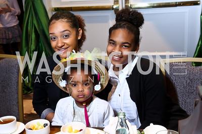 Aliya Dillon, Paisley Snell, Kai Lindsey. Photo by Tony Powell. THEARC's Wacky and Whimsical Tea. Ritz Carlton. March 1, 2015