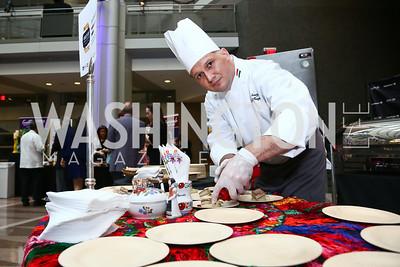 Embassy of Hungary Chef Szabolcs Somogyi. Photo by Tony Powell. 2015 Embassy Chef Challenge. Reagan Building. May 20, 2015