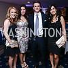 Rachel Pedersen, Michelle Elhosni, Jeff Pedersen, Jessica Pedersen. Photo by Tony Powell. 8th Annual Affairs of State Gala. Press Club. September 19, 2015