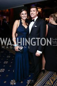 Melanie Dennehy, Evan Karlik. Photo by Tony Powell. 8th Annual Affairs of State Gala. Press Club. September 19, 2015