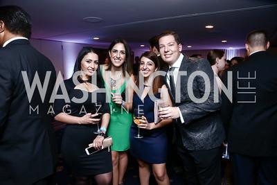 Astghik Tsatryan, Anya Shahnazari, Narine Esmaeili, Alex Shtarkman. Photo by Tony Powell. 8th Annual Affairs of State Gala. Press Club. September 19, 2015