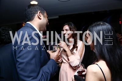 Sridhar Dronavalli, Natasha Yousaf, Monica Shah. Photo by Tony Powell. 8th Annual Affairs of State Gala. Press Club. September 19, 2015