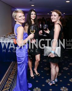 Natalia Fokin, Sehra Blackburn, Olena Blaney. Photo by Tony Powell. 8th Annual Affairs of State Gala. Press Club. September 19, 2015