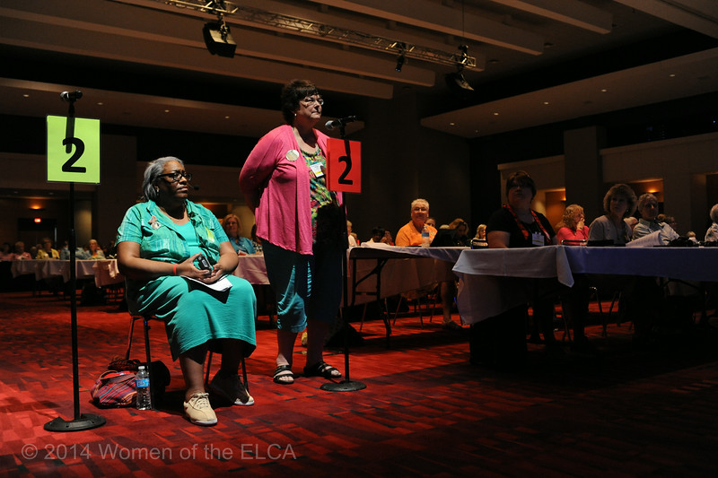 Ninth Triennial Convention | Carolyn Davis (left) and Barbara Gordon (1E)