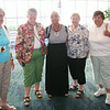 Ninth Triennial Convention | Former churchwide executive board members (1996-2002) pictured from the left: Nancy Hoffman (6D) Lancaster, OH;  Sally Frank (8A), Conneaut Lake, PA; LaVawn Danielson (3F), Hector, MN;  Former churchwide executive board members (1999-2005)Joyce Opjorden (2B), Ventura, CA; Kathy Schneirle (6F) Cincinnati, OH.