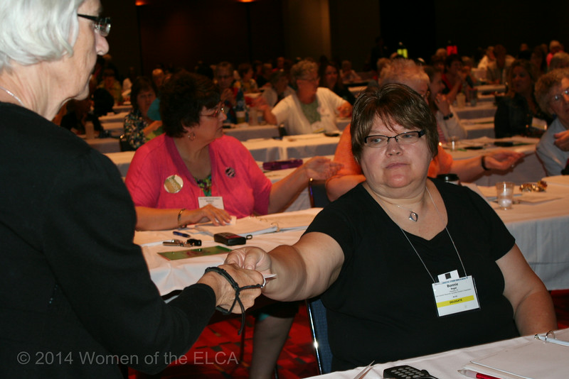 Ninth Triennial Convention | Delegate pass ballot to the page for collection.
