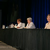 Ninth Triennial Convention | Churchwide executive board officers Jackie Wilson (pictured left), JoAnn Fuchs and Ely Smith prepare for Plenary 1.