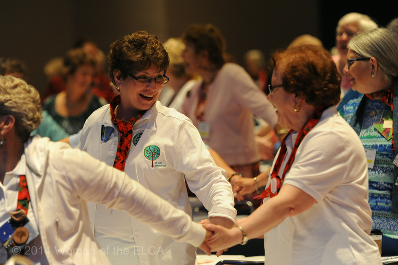 Ninth Triennial Convention | Lois Bylund (left) and Elaine Sckees