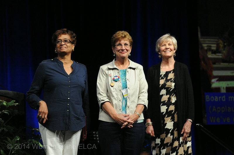 Ninth Triennial Convention | Former executive churchwide board presidents Linda Chinnia (left), Mary Ellen Keisner and Beth Wrenn