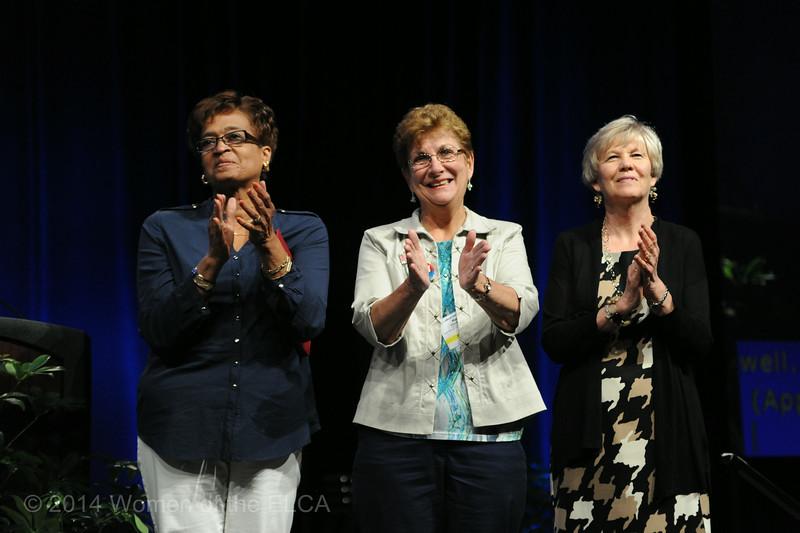 Ninth Triennial Convention | Former executive churchwide board presidents Linda Chinnia (left), Mary Ellen Keisner and Beth Wrenn