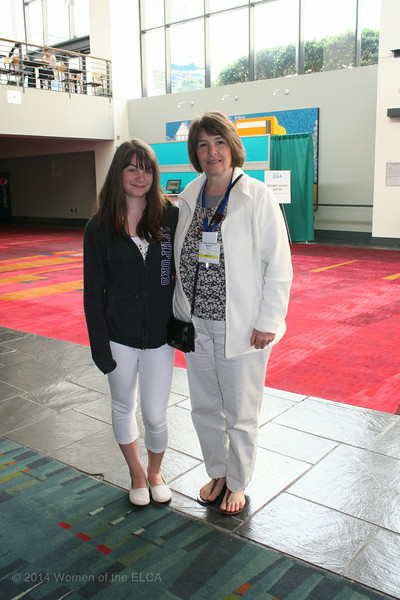 Ninth Triennial Convention | Mother daughter duo: Chloe (5D) (left) and Penne Bennett, Wheatland, IA