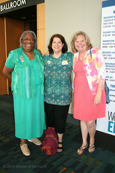 Ninth Triennial Convention | Carolyn Davis, Louise Iconis and Donna Yourell.