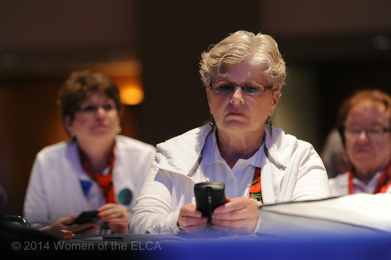 Ninth Triennial Convention | Kathy Englund, Kurlstad, MN votes during Plenary 2.