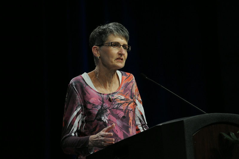 Ninth Triennial Convention | Becky Shurson is elected secretary of the churchwide executive board.