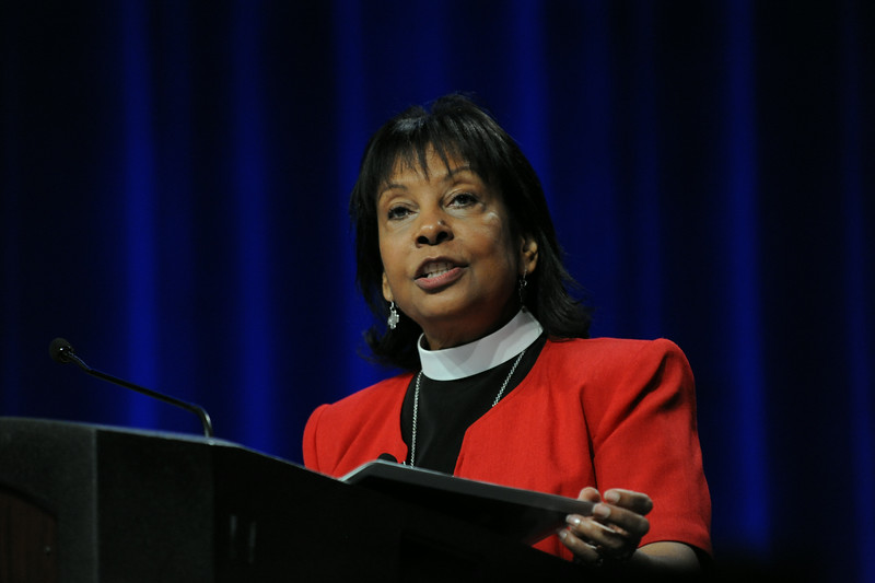 Ninth Triennial Convention | Bible study lead by the Rev. Dr. M. Wyvetta Bullock in Plenary 3