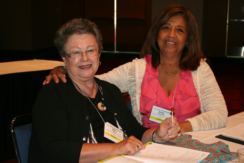 Ninth Triennial Convention | Delegates from 5D, Alma Chapman (left), Tipton, IA and Bonita Miller, Davenport, IA