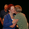 Ninth Triennial Convention | Newly elected churchwide executive board president, Patti Austin (9D), Decatur, GA, embraces former churchwide executive board president, Beth Wrenn backstage after the election in Plenary 3.