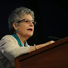 Ninth Triennial Gathering | Diane Jacobson, Saint Paul, MN, leads the plenary in Bible study