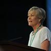 Ninth Triennial Gathering | Beth Wrenn, Former churchwide president, 2008-2011 welcomes participants at Plenary 1