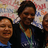 Judy Wagner St. Pierre (Newport News, Va.), Stephanie Hamilton Muwunganirwa and Victoria Hamilton, pastor at St. John Lutheran Church, Jacksonville, Fla., spend time catching up at the triennial gathering. Stephanie is Victoria's daughter. EH.