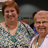 Diane McElwee (Boyertown, Pa.) and Judith Hillberg (Kutztown, Pa.) enjoyed the activities in The Dor (a Hebrew word meaning 'generations') exhibit area. EH.